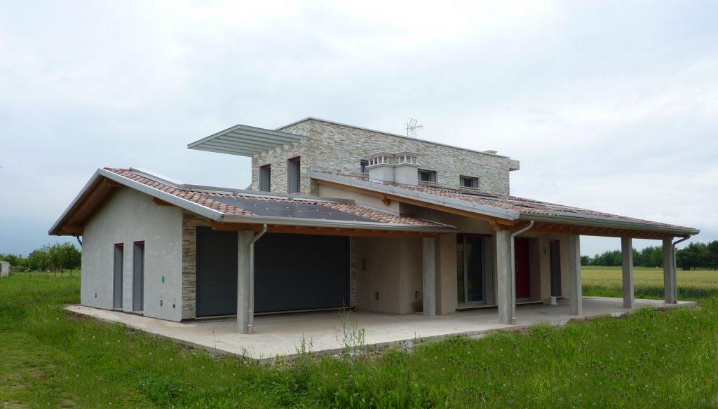 Casa ecologica passiva a thiene vicenza casa in legno for Casa unifamiliare tradizionale