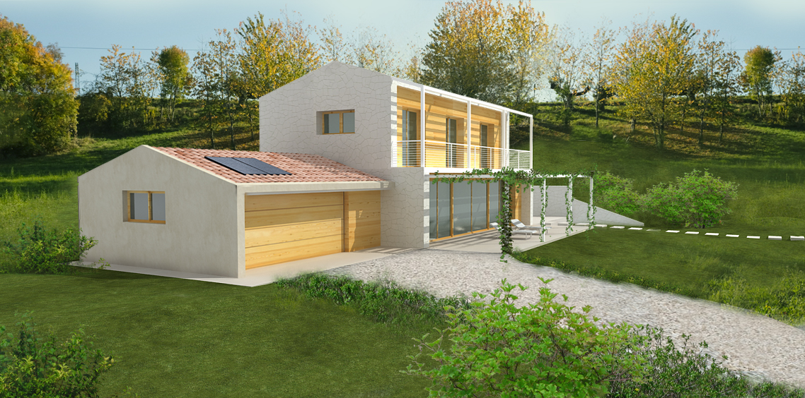 Casa in legno ecologica passiva villa collina campagna for Architettura case