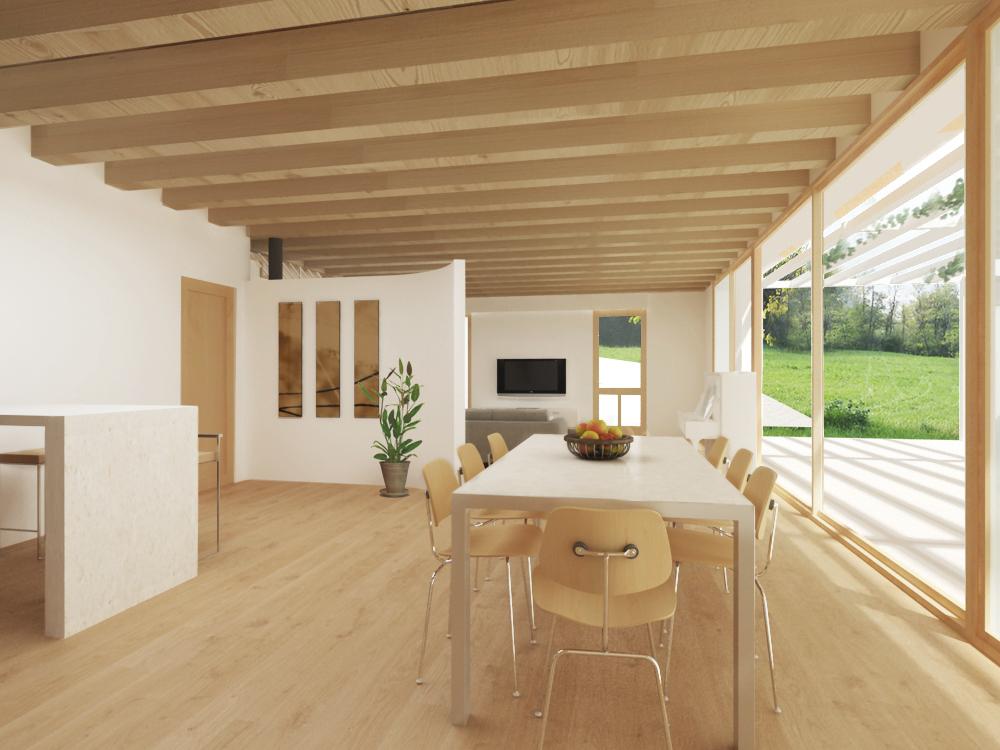 Casa in legno ecologica passiva a chiuppano carr for Piani casa bungalow bassa campagna