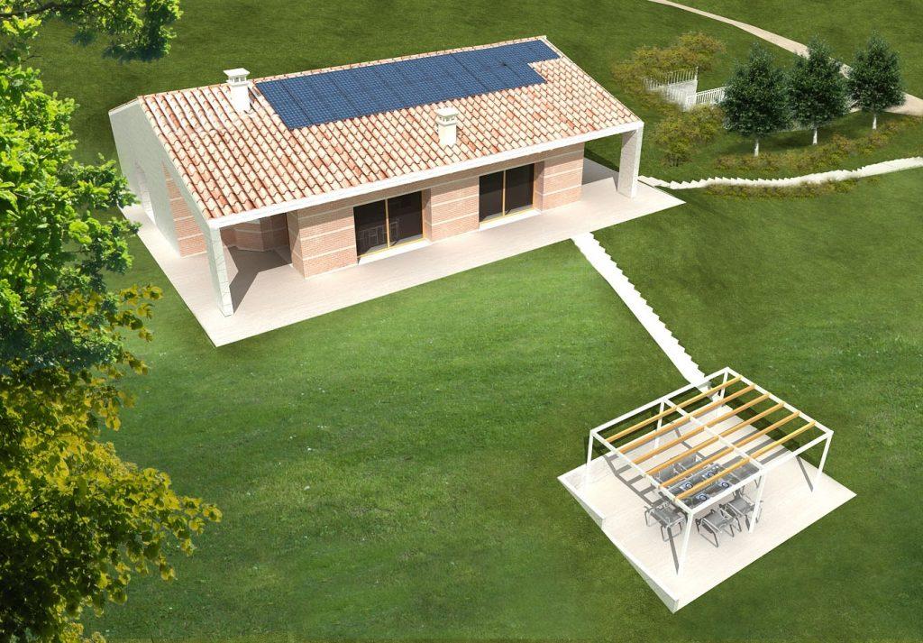 Casa ecologica passiva a maser treviso case in legno for Progetti case ecologiche