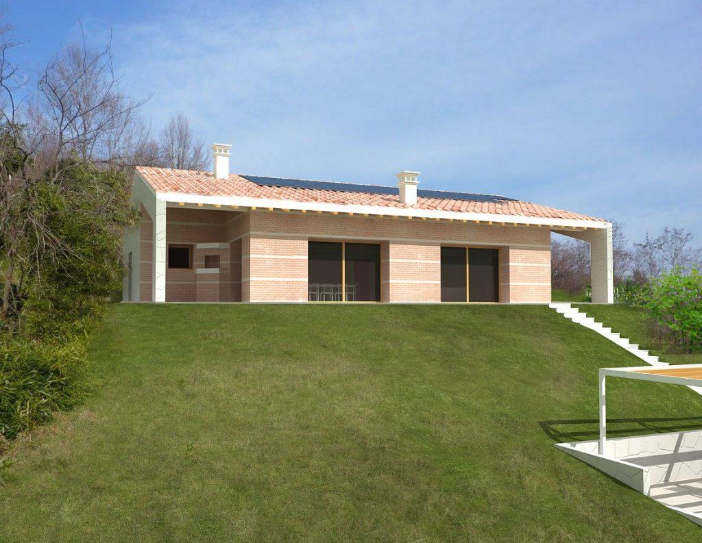 Casa ecologica passiva a maser treviso case in legno for Casa moderna treviso