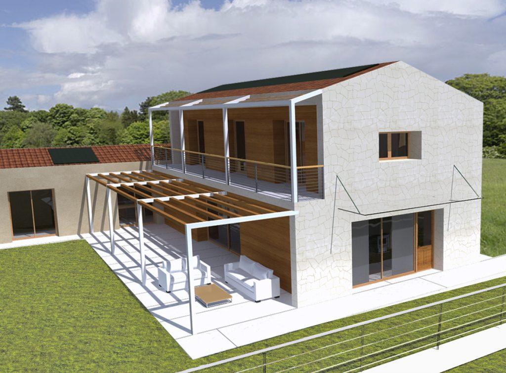 Casa in legno ecologica passiva a thiene vicenza casa for Progetti di case in campagna