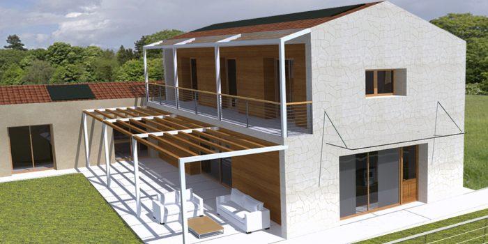 Casa in legno ecologica passiva a cornuda treviso casa - Progetto casa campagna ...