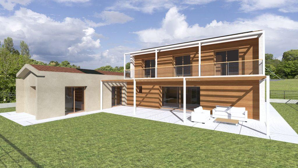 Casa in legno ecologica passiva a thiene vicenza casa for Architettura della casa di campagna