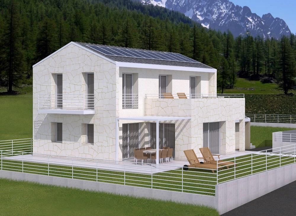 Casa ecologica passiva a belluno case in legno studio di - Casa in legno o muratura ...