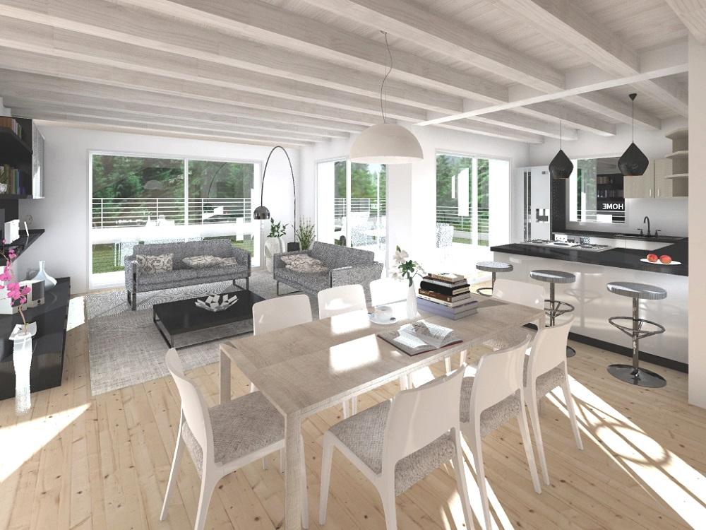 Casa ecologica passiva a belluno case in legno studio di for Progetti case ecologiche