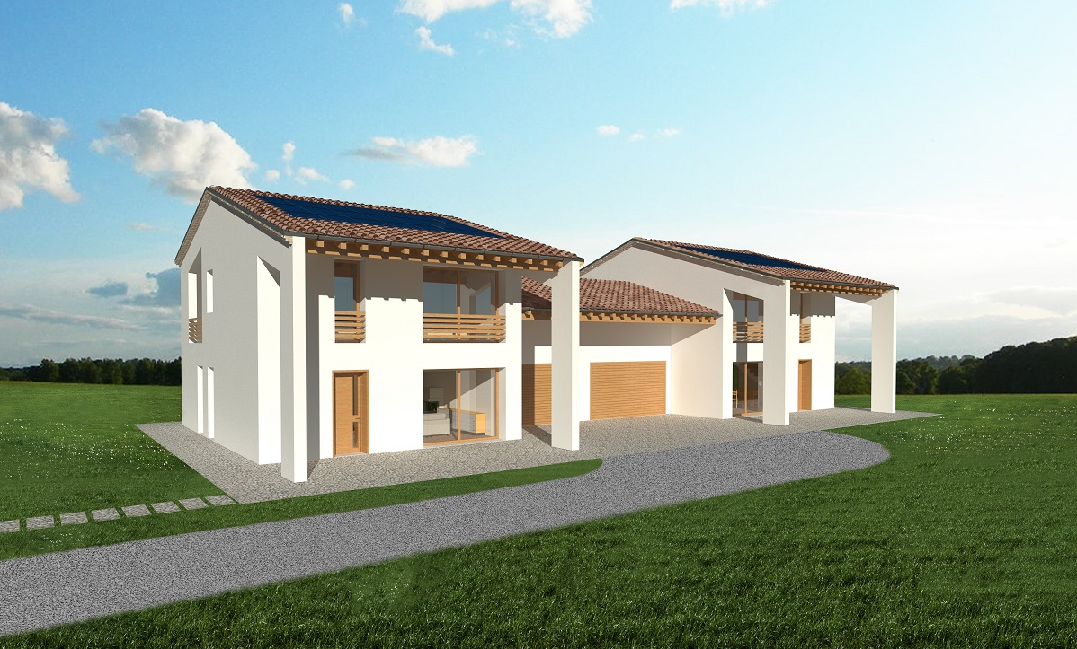 Casa ecologica passiva a cadoneghe padova case in legno for Progetti case ecologiche